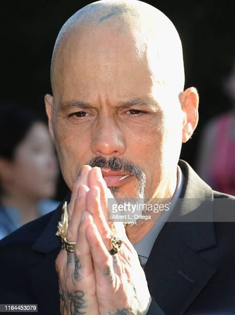 David Labrava arrives for the Premiere Of FX's Mayans MC Season 2 held at ArcLight Cinerama Dome on August 27 2019 in Hollywood California
