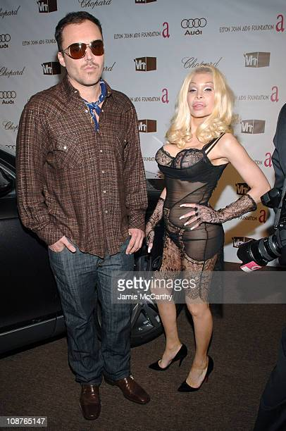 David LaChapelle and Amanda Lepore during 14th Annual Elton John AIDS Foundation Oscar Party Cohosted by Audi Chopard and VH1 Red Carpet at Pacific...