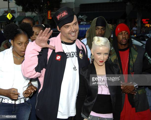 David LaChapelle and Christina Aguilera during Rize Los Angeles Premiere Arrivals at Egyptian Theatre in Hollywood California United States