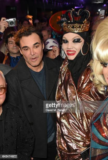 David LaChapelle and Daniel Lismore attend the launch of Daniel Lismore's new book 'Daniel Lismore Be Yourself Everyone Else Is Already Taken' at The...