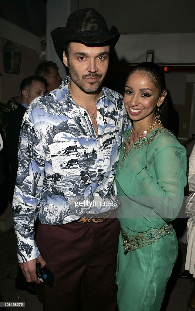 David LaChapelle and Mya during EMI Post-GRAMMY Party - Inside at Polo Lounge at the Beverly Hills Hotel in Los Angeles, California, United States.