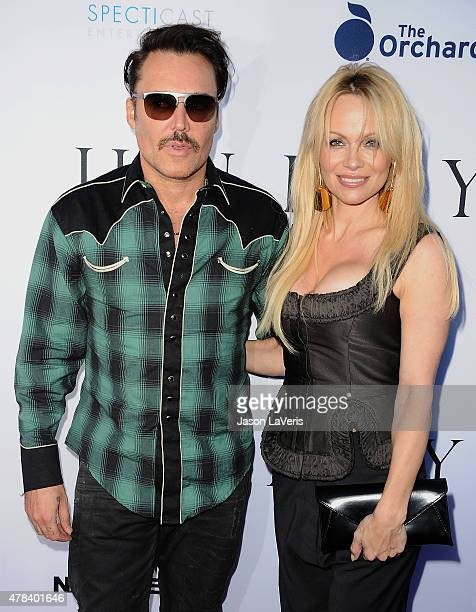 David LaChapelle and Pamela Anderson attend the world premiere screening of 'Unity' at DGA Theater on June 24 2015 in Los Angeles California