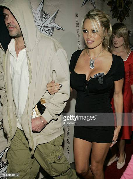 David LaChapelle and Pamela Anderson during 32nd Annual American Music Award AfterParty for Gwen Stefani's new CD 'Love Angel Music Baby' at The...