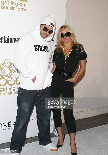David LaChapelle and Pamela Anderson during G.O.O.D. Music GRAMMY After Party at Heaven in Los Angeles, California, United States.