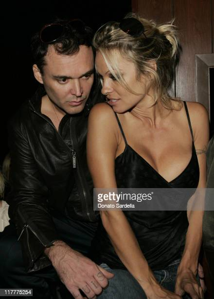 David LaChapelle and Pamela Anderson during Juicy Couture Store Opening After Party at Forty Deuce in Las Vegas Nevada United States