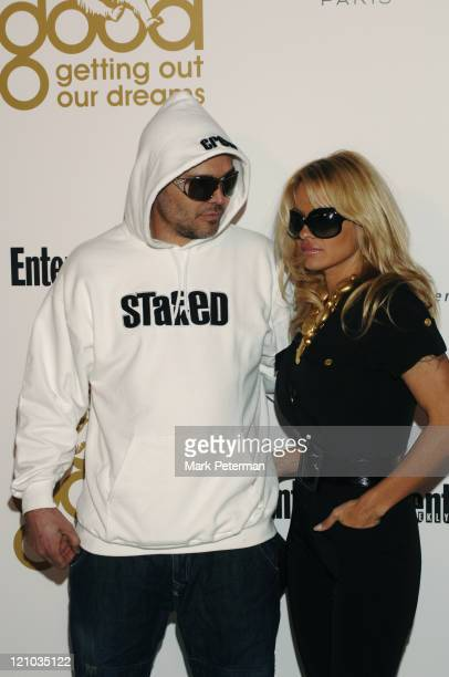 David LaChapelle and Pamela Anderson during Kanye West's Heaven GRAMMY After Party Sponsored by Entertainment Weekly - Arrivals at The Lot Studios in...
