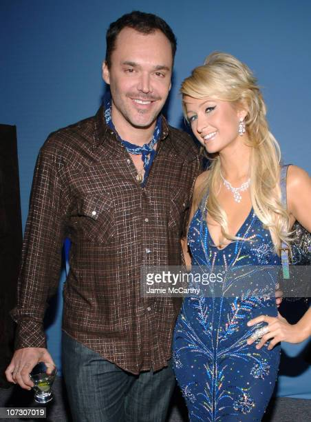 David LaChapelle and Paris Hilton during 14th Annual Elton John AIDS Foundation Oscar Party Co-hosted by Audi, Chopard and VH1 - Chopard at Pacific...