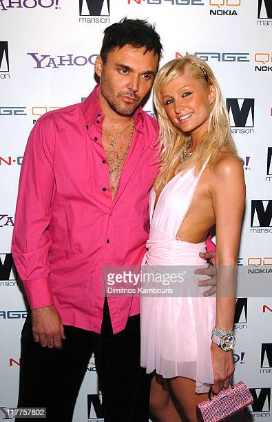 David LaChapelle and Paris Hilton during Paris Hilton Record Release Party At Mansion at Mansion Nightclub in Miami, United States.