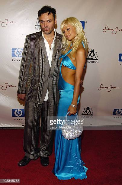 David LaChapelle and Paris Hilton during Post VMA Party Hosted by Sean P Diddy Combs and Guy Oseary Arrivals at Ice House in Miami Florida United...