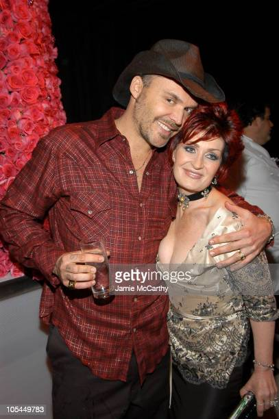 David LaChapelle and Sharon Osbourne during 13th Annual Elton John AIDS Foundation Oscar Party Cohosted by Chopard Inside at Pacific Design Center in...
