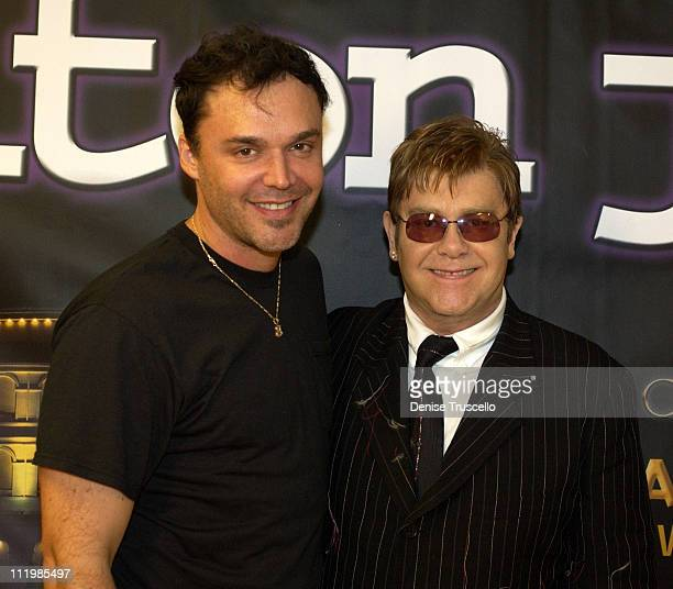 David LaChapelle and Sir Elton John during Ceasars Palace Announces Elton John's Extended Concerts At The Colosseum at Ceasars Palace in Las Vegas...