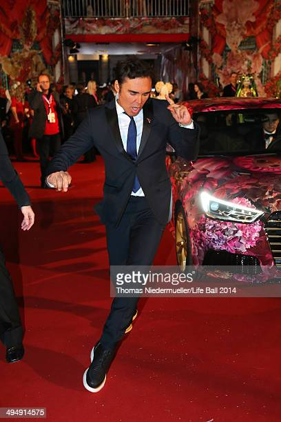 David LaChapelle attends the Life Ball 2014 Magenta Carpet Arrivals at City Hall on May 31 2014 in Vienna Austria