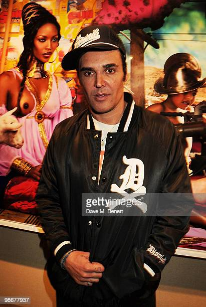 David LaChapelle attends the Rape of Africa private view at RobilantVoena on April 26 2010 in London England