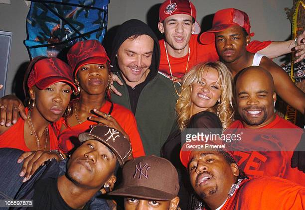David LaChapelle director of 'Rize' Pamela Anderson and the cast of 'Rize'