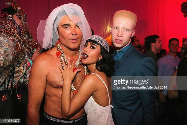 David LaChapelle Natalia Kills and Shaun Ross attend the Life Ball 2014 After Show Party at City Hall on May 31 2014 in Vienna Austria