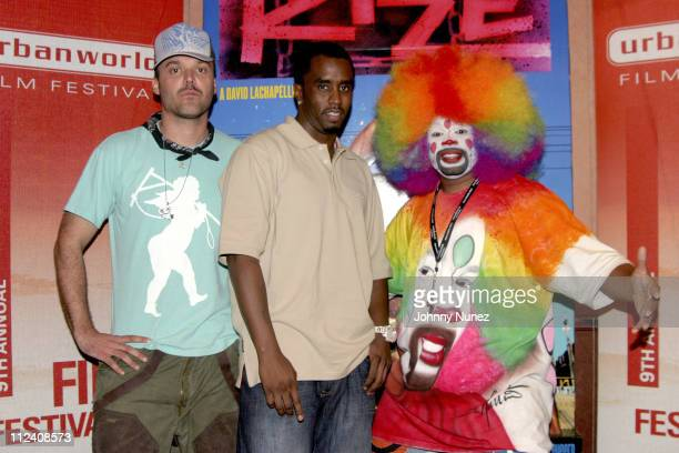 """David LaChapelle, Sean """"P. Diddy"""" Combs and Tommy the Clown"""