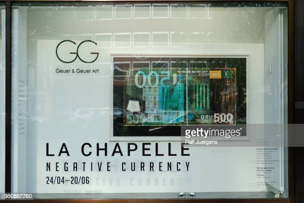 David LaChappelle attends his 'LACHAPELLE Negative Currency' Exhibition Opening at Geuer und Geuer on April 24 2018 in Duesseldorf Germany The...
