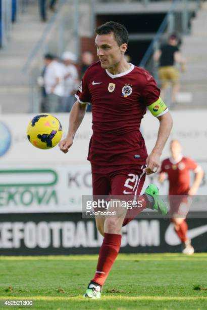 David Lafata of AC Sparta Prague in action during the Gambrinus Liga match between FK Mlada Boleslav and AC Sparta Prague at the Mestsky Stadion on...