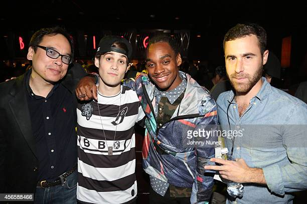 David Lai Marco Foster Ricky Jackson and Ross Michaels attend BB King Blues Club Grill on October 2 2014 in New York City