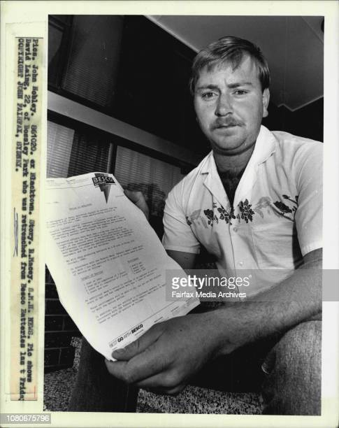 David Laing of Bossley Park who was retrenched from Bosco batteries last Friday October 20 1986