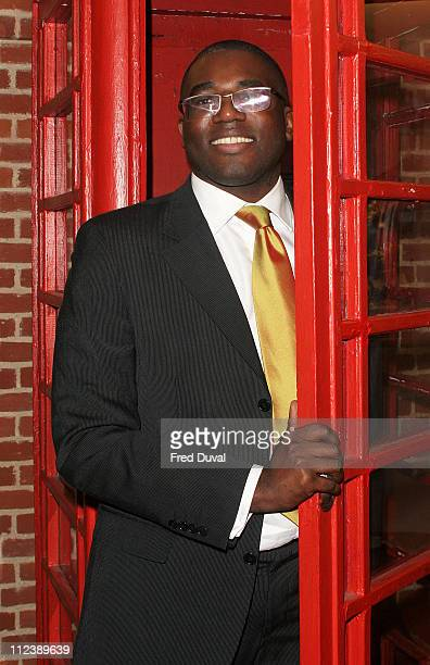 David Lammy Culture Minister during ICONS A Portrait of England Press Launch at Globe Theatre in London Great Britain