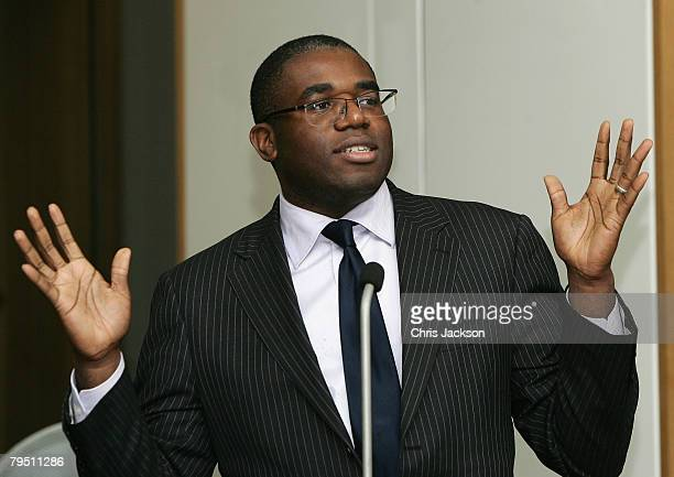 David Lammy hosts the 'Make Your Mark in the Music Industry' press conference at Portcullis House on February 4 2008 in London England The 'Make Your...