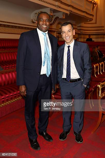David Lammy MP and attends as the National Youth Theatre celebrates its Diamond Anniversary hosted by HRH The Earl of Wessex at Buckingham Palace on...