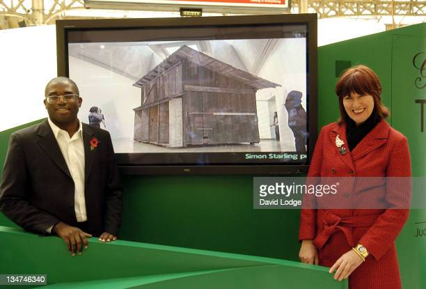 David Lammy MP and Janet Street Porter during Janet Street Porter Unveils the Gordon's Gin 'Judge for Yourself' Tour at Victoria Train Station in...