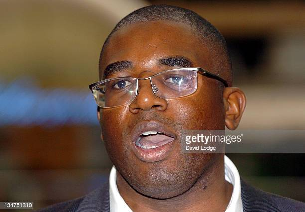 David Lammy MP during Janet Street Porter Unveils the Gordon's Gin 'Judge for Yourself' Tour at Victoria Train Station in London Great Britain