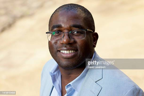 David Lammy MP for Tottenham poses for a portrait at the Oxford Literary Festival on March 24 2012 in Oxford England