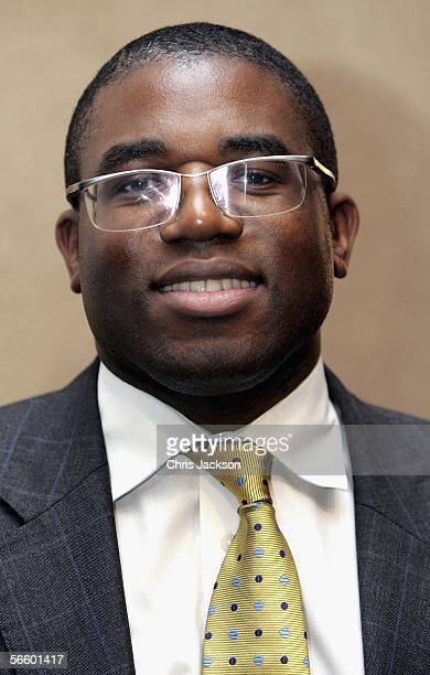 David Lammy poses for a picture at The TS Eliot Prize 2006 a GBP10000 literary prize awarded by the Poetry Book Society for the best poetry book...