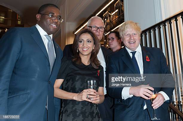 David Lammy Riz Lateef Guest and Boris Johnson attend the launch of the Evening Standard 1000 Most Influential Londoners in asociation with Burberry...