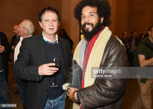 David Lan and guest attend a private view of the David Hockney retrospective at the Tate Britain on February 7 2017 in London England