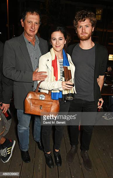 David Lan Artistic Director of The Young Vic Phoebe Fox and Kyle Soller attend the after party following the press night of Song From Far Away at The...