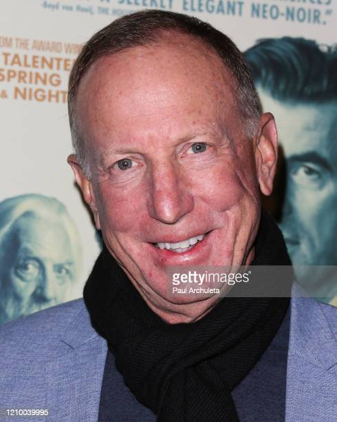 """David Lancaster attends the LA special screening of Sony's """"The Burnt Orange Heresy"""" at Linwood Dunn Theater on March 02, 2020 in Los Angeles,..."""
