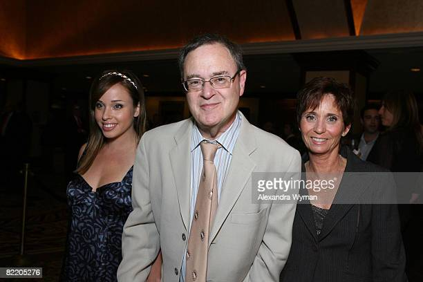 David Lander and Daughter Natalie and wife Kathy arrive at The National MS Society's Dinner of Champions held at the Hyatt Regency Century Plaza...