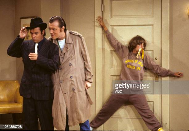 David Lander Michael McKean Penny Marshall appearing on the Walt Disney Television via Getty Images series 'Laverne and Shirley' episode 'Fat City...