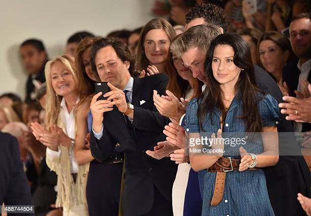 David Lauren Alec Baldwin and Hilaria Thomas Baldwin attend Ralph Lauren Spring 2016 during New York Fashion Week The Shows at Skylight Clarkson Sq...
