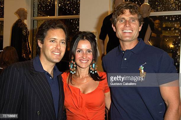 David Lauren Alina Shriver and Anthony Shriver attend an Arts Basel event at the Polo Ralph Lauren store December 6 2006 in Miami Beach Florida
