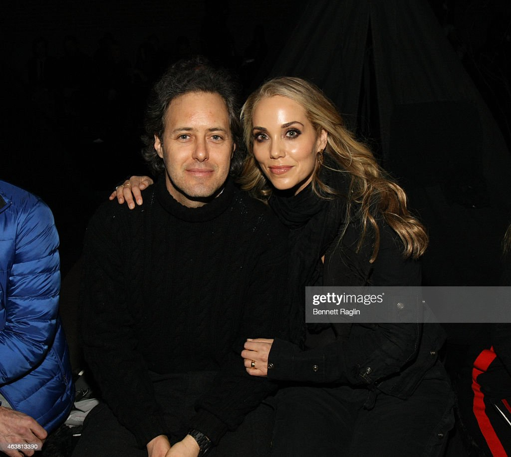David Lauren and Elizabeth Berkley attend the Greg Lauren fashion show during Mercedes-Benz Fashion Week Fall 2015 at ArtBeam on February 18, 2015 in New York City.