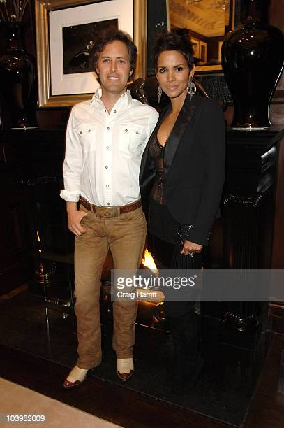 David Lauren and Halle Berry at the Ralph Lauren celebration of Fashion's Night Out at Ralph Lauren Mansion on September 10, 2010 in New York City.