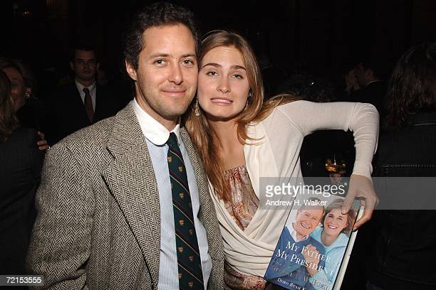 David Lauren and Lauren Bush attend a celebration for Doro Bush Koch's book 'My Father My President' on October 11 2006 in New York City