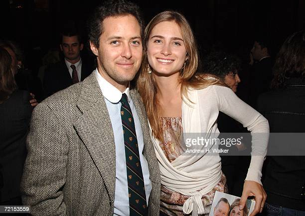 David Lauren and Lauren Bush attend a celebration for Doro Bush Koch's book 'My Father My President' October 11 2006 in New York City