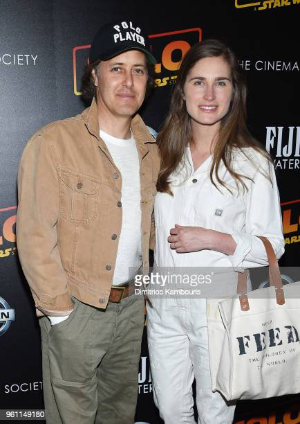 David Lauren and Lauren Bush attend a screening of 'Solo A Star Wars Story' hosted by The Cinema Society with Nissan FIJI Water at SVA Theater on May...