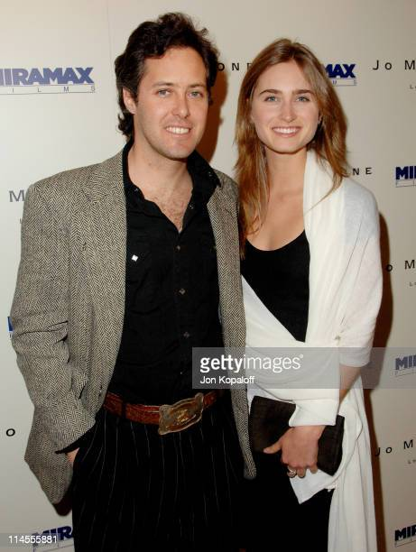 David Lauren and Lauren Bush during Miramax Films 2007 PreOscar Party at Sunset Tower Hotel in West Hollywood CA United States