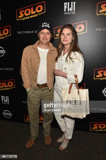 David Lauren and Lauren Bush Lauren attend FIJI Water with the Cinema Society host a screening of 'Solo A Star Wars Story' at SVA Theater on May 21...