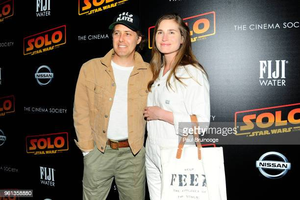 David Lauren and Lauren Bush Lauren attend The Cinema Society With Nissan FIJI Water Host A Screening Of 'Solo A Star Wars Story' at SVA Theatre on...