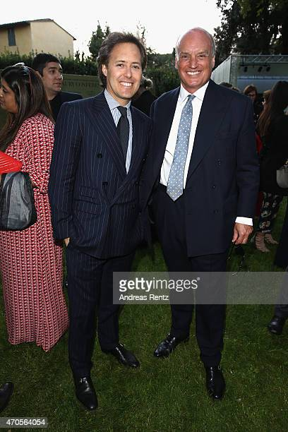 David Lauren and Nicholas Coleridge, President of Conde Nast International attend the Conde' Nast International Luxury Conference Welcome Reception...