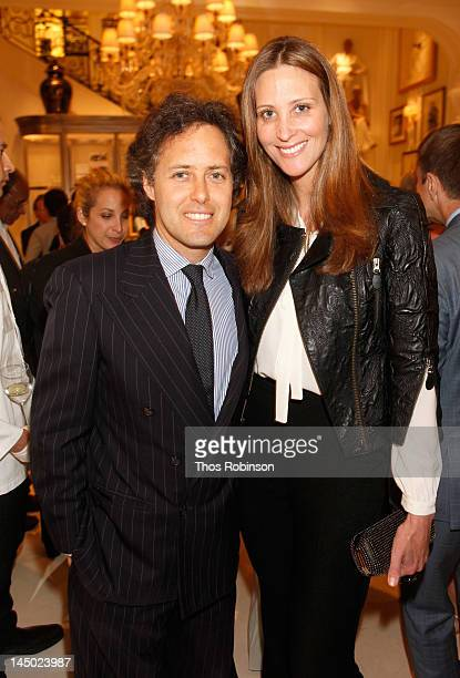 David Lauren and Stephanie Winston Wolkoff attend the Ralph Lauren celebration for the publication of The Hamptons Food Family and History by Ricky...