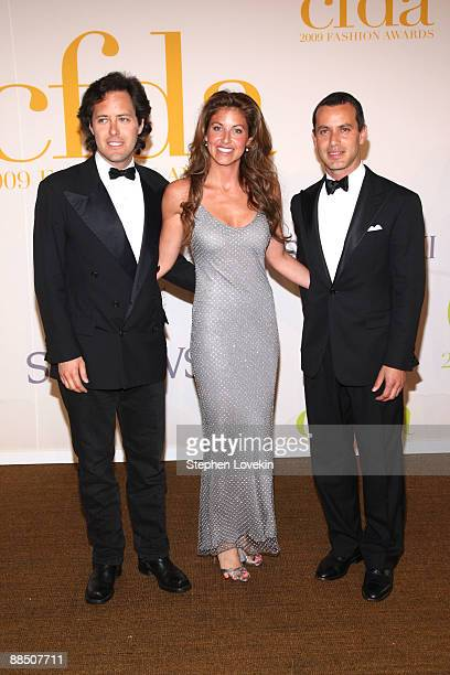David Lauren Dylan Lauren and Andrew Lauren attend the 2009 CFDA Fashion Awards at Alice Tully Hall Lincoln Center on June 15 2009 in New York City